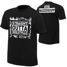 "The Dudley Boyz ""Straight out of Dudleyville"" Youth Authentic T-Shirt"
