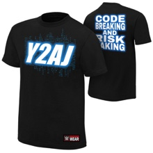 "Chris Jericho and AJ Styles ""Y2AJ"" Youth Authentic T-Shirt"