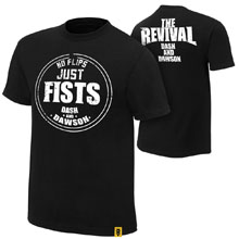 """The Revival """"No Flips, Just Fists"""" Authentic T-Shirt"""