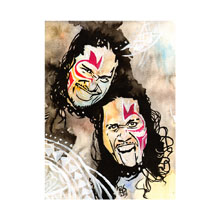 The Uso's WrestleMania 32 11 x 14 Art Print