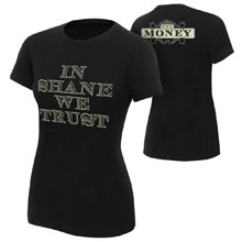 """Shane McMahon """"In Shane We Trust"""" Women's T-Shirt"""
