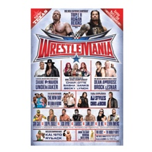 WrestleMania 32 24 x 36 Fight Card Poster