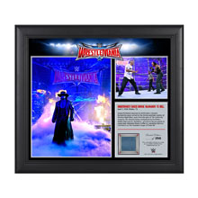 Undertaker WrestleMania 32 15 x 17 Framed Ring Canvas Photo Collage