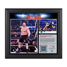 Brock Lesnar WrestleMania 32 15 x 17 Framed Ring Canvas Photo Collage