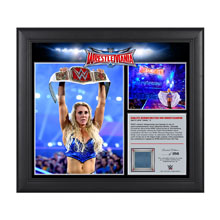 Charlotte WrestleMania 32 15 x 17 Framed Ring Canvas Photo Collage