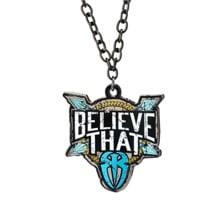 """Roman Reigns """"Believe That"""" Blue Pendant"""