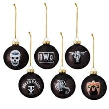 WWE Legends 6-Piece Glass Ball Ornament