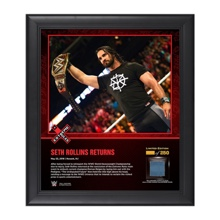 Seth Rollins Extreme Rules 2016 15 x 17 Framed Ring Canvas Photo Collage