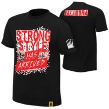 """Shinsuke Nakamura """"Strong Style Has Arrived"""" Youth Black Authentic T-shirt"""