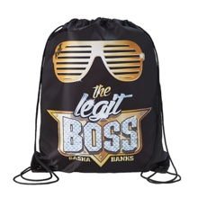 "Sasha Banks ""The Legit Boss"" Drawstring Bag"