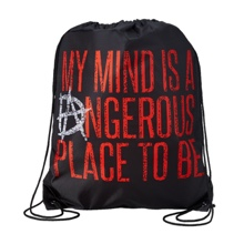 "Dean Ambrose ""My Mind is a Dangerous Place"" Drawstring Bag"