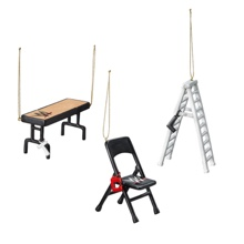 WWE Tables, Ladders, and Chairs Holiday Ornament Set