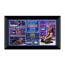 Roman Reigns WrestleMania 32 Signed Commemorative Plaque