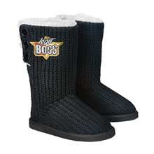 "Sasha Banks ""The Legit Boss"" Women's Button Boots"