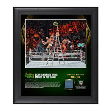 Dean Ambrose Money In The Bank Ladder Match 2016 15 x 17 Framed Photo w/ Ring Canvas