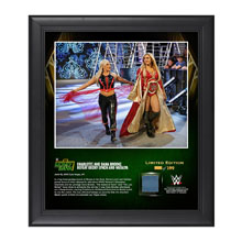 Charlotte and Dana Brooke Money In The Bank 2016 15 x 17 Framed Photo w/ Ring Canvas