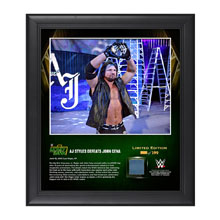 AJ Styles Money In The Bank 2016 15 x 17 Framed Photo w/ Ring Canvas