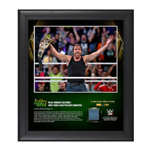 Dean Ambrose Money In The Bank 2016 15 x 17 Framed Photo w/ Ring Canvas