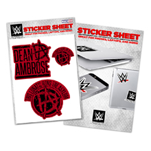 "Dean Ambrose ""This Lunatic Runs The Asylum"" Sticker Sheet"
