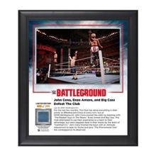 John Cena and Enzo & Big Cass Battleground 2016 15 x 17 Commemorative Framed Plaque w/ Ring Canvas