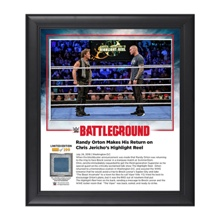 Chris Jercho and Randy Orton Battleground 2016 15 x 17 Framed Plaque w/ Ring Canvas