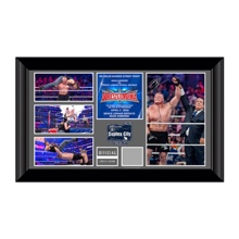 Brock Lesnar WrestleMania 32 Signed Commemorative Plaque
