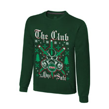 """The Club """"No One is Safe"""" Ugly Holiday Sweatshirt"""