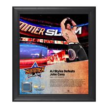 AJ Styles SummerSlam 2016 15 x 17 Framed Plaque w/ Ring Canvas