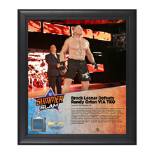 Brock Lesnar SummerSlam 2016 15 x 17 Framed Plaque w/ Ring Canvas
