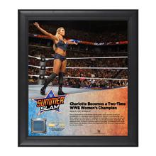 Charlotte SummerSlam 2016 15 x 17 Framed Plaque w/ Ring Canvas