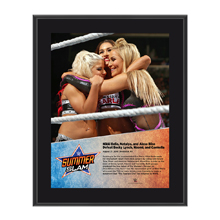 Nikki Bella, Alexa Bliss, Natalya SummerSlam 2016 10 x 13 Plaque