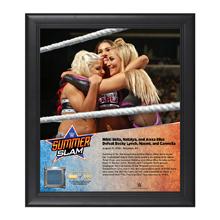 Nikki Bella, Alexa Bliss, Natalya SummerSlam 2016 15 x 17 Framed Plaque w/ Ring Canvas