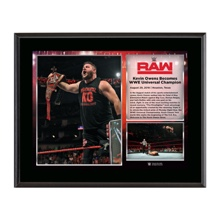 Kevin Owens WWE Universal Championship 10 x 13 Photo Plaque