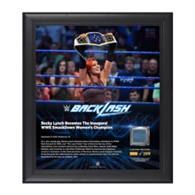 Becky Lynch Backlash 2016 15 x 17 Framed Plaque w/ Ring Canvas