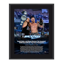 Heath Slater and Rhyno Backlash 2016 10 x 13 Photo Plaque