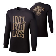 "Becky Lynch ""100% Bad Lass"" Youth Long Sleeve T-Shirt"