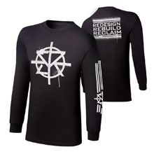 """Seth Rollins """"Redesign, Rebuild, Reclaim"""" Youth Long Sleeve T-Shirt"""