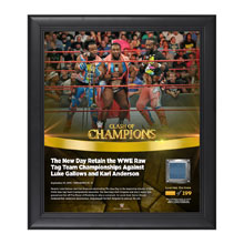 The New Day Clash of Champions 2016 15 x 17 Framed Plaque w/ Ring Canvas