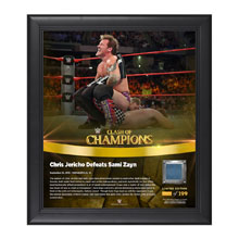 Chris Jericho Clash of Champions 2016 15 x 17 Framed Plaque w/ Ring Canvas