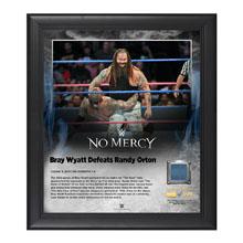 Bray Wyatt No Mercy 2016 15 x 17 Framed Plaque w/ Ring Canvas