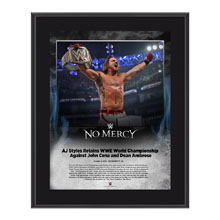 AJ Styles No Mercy 2016 10 x 13 Photo Plaque