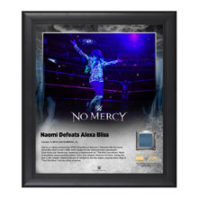 Naomi No Mercy 2016 15 x 17 Framed Plaque w/ Ring Canvas