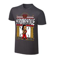 "WWE x NERDS Shinsuke Nakamura ""Strong Style"" Cartoon T-Shirt"