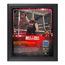 Kevin Owens Hell in a Cell 15 x 17 Framed Plaque w/ Ring Canvas