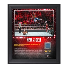 The New Day Hell In A Cell 15 x 17 Framed Plaque w/ Ring Canvas