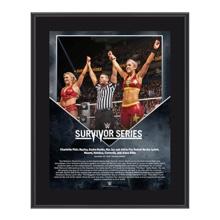 Bayley & Charlotte Survivor Series 2016 10 x 13 Commemorative Photo Plaque