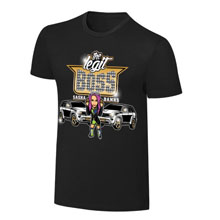 "WWE x NERDS Sasha Banks ""Rolling Like A Boss"" Cartoon T-Shirt"