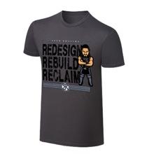 "WWE x NERDS Seth Rollins ""The Architect"" Cartoon T-Shirt"