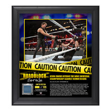 Kevin Owens RoadBlock 2016 15 x 17 Framed Plaque w/ Ring Canvas