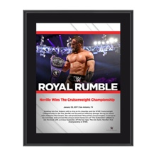 Neville Royal Rumble 2017 10 x 13 Commemorative Photo Plaque